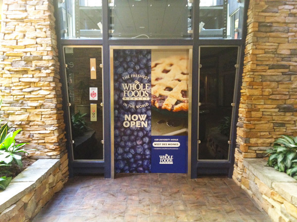 Valley West Mall door wrap
